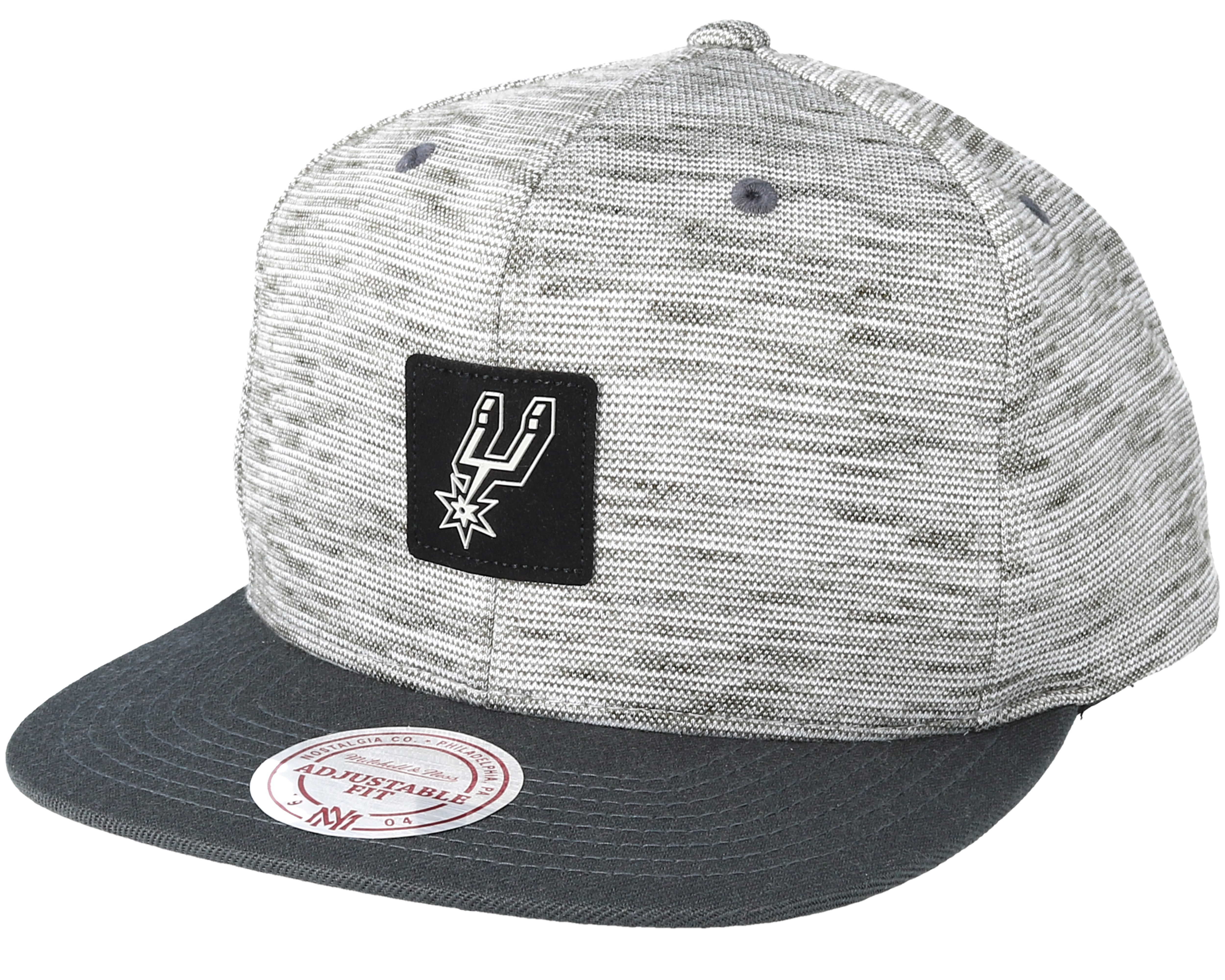 competitive price 16c68 e64ae ... cheapest san antonio spurs brushed melange snapback mitchell ness 57a98  f6f1e