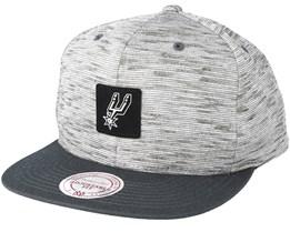 San Antonio Spurs Brushed Melange Snapback - Mitchell & Ness