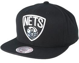 Brooklyn Nets Easy Three Digital XL Black Snapback - Mitchell & Ness