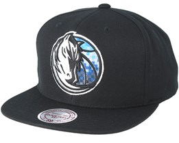 Dallas Mavericks Easy Three Digital XL Black Snapback - Mitchell & Ness