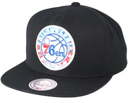 Philadelphia 76ers Easy Three Digital XL Black Snapback - Mitchell & Ness