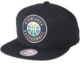 Utah Jazz Easy Three Digital XL Black Snapback - Mitchell & Ness