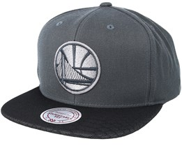 Golden State Warriors Hologram Mesh Stop On Dime Charcoal Snapback - Mitchell & Ness