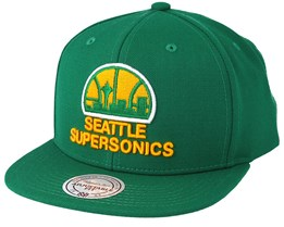 Seattle Supersonics Wool Solid Green Snapback - Mitchell & Ness