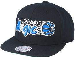 Orlando Magic Wool Solid 2 Black Snapback - Mitchell & Ness