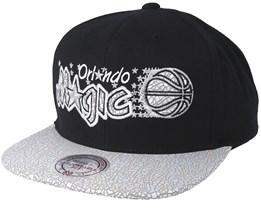 Orlando Magic Cracked Iridescent Black Snapback - Mitchell & Ness
