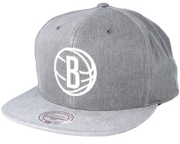 Brooklyn Nets Washed Twill 2 Tone Ash Snapback - Mitchell & Ness