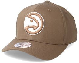 Atlanta Hawks Flexfit 110 Camel Adjustable - Mitchell & Ness