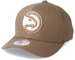 Atlanta Hawks Flexfit 110 Camel Adjustable - Mitchell & Ness