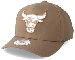 Chicago Bulls Flexfit 110 Camel Adjustable - Mitchell & Ness