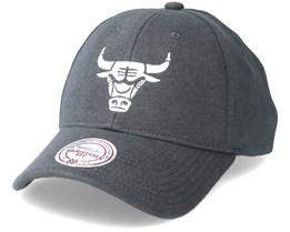 Chicago Bulls Melange Jersey 110 Charcoal Adjustable -  Mitchell & Ness
