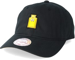 Los Angeles Lakers Small Jersey Dad Hat Black Adjustable - Mitchell & Ness