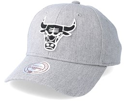 Chicago Bulls Team Logo Low Pro Heather Grey Adjustable - Mitchell & Ness