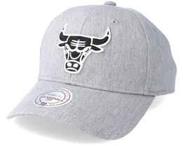 Chicago Bulls Team Logo Low Pro Heather Grey Adjustable - Mitchell & Ness