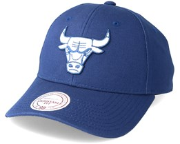 Chicago Bulls Team Logo Low Pro Navy Adjustable - Mitchell & Ness