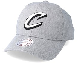 Cleveland Cavaliers Team Logo Low Pro Heather Grey Adjustable - Mitchell & Ness