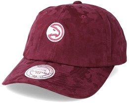 Atlanta Hawks Tonal 110 Camo Burgundy Adjustable - Mitchell & Ness