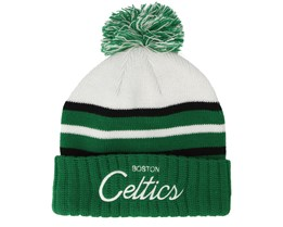Boston Celtics Colour Block Special Script Knit Green Beanie - Mitchell & Ness