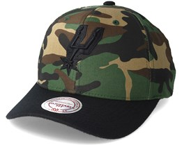 San Antonio Spurs 110 Flexfit Camo Adjustable - Mitchell & Ness