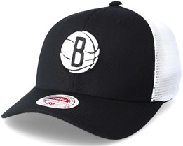 Brooklyn Nets Trucker Mesh Black Flexfit - Mitchell & Ness