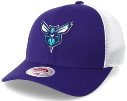 Charlotte Hornets Trucker Mesh Purple Flexfit - Mitchell & Ness