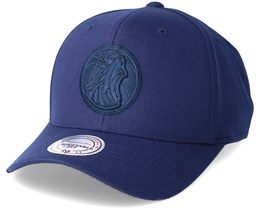 Minnesota Timberwolves Flexfit 110 Navy  Adjustable - Mitchell & Ness