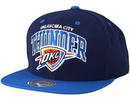 Oklahoma City Thunder Team Arch Navy/Blue Snapback - Mitchell & Ness