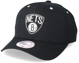 Brooklyn Nets Poly Low Pro Black Adjustable - Mithcell & Ness