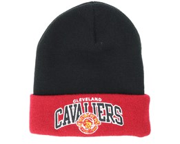 Cleveland Cavaliers Team Arch Knit Black Cuff - Mitchell & Ness