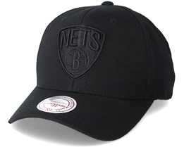 Brookyn Nets Flexfit 110 Black Snapback - Mitchell & Ness