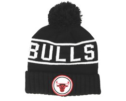 Chicago Bulls Glow In The Dark Knit Black Pom - Mitchell & Ness