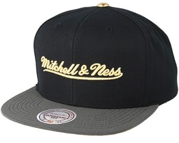 Gold Tip Black Snapback - Mitchell & Ness