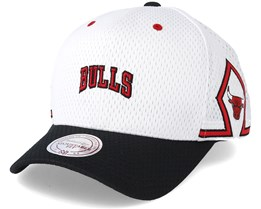 Chicago Bulls Jersey Hook & Loop White Adjustable - Mitchell & Ness