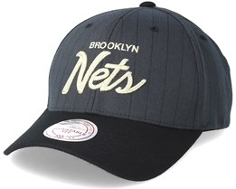 Brooklyn Nets Pinstripe Grey Adjustable - Mitchell & Ness