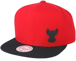 Chicago Bulls Little Logo Red Snapback - Mitchell & Ness