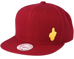Cleveland Cavaliers Little Logo Burgundy Snapback - Mitchell & Ness