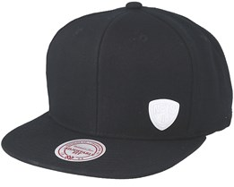 Brooklyn Nets Little Logo Black Snapback - Mitchell & Ness
