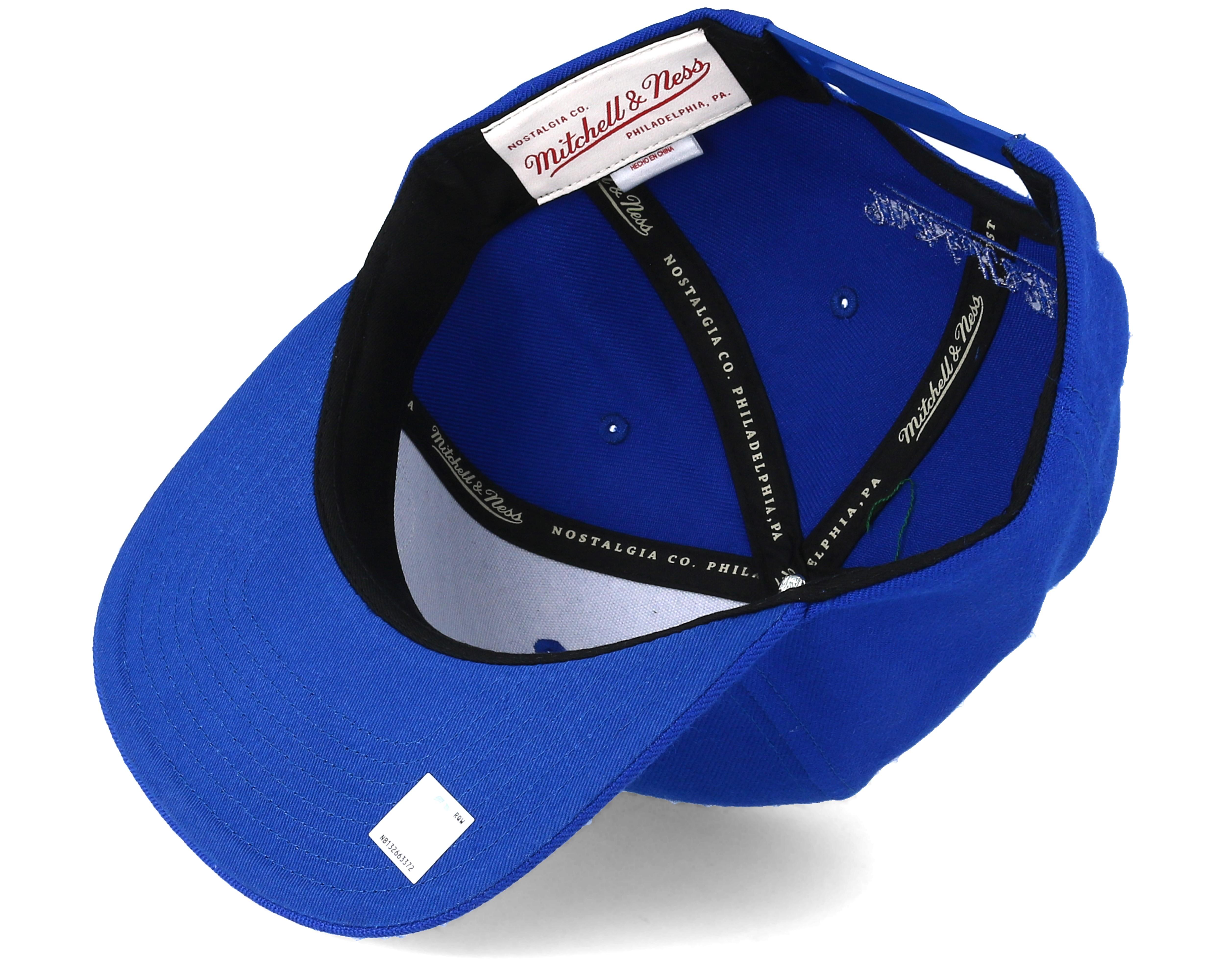 f0410c1dc8b Golden State Warriors Little Logo Royal Snapback - Mitchell   Ness ...