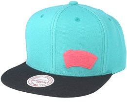 San Antonio Spurs Little Logo Teal Snapback - Mitchell & Ness