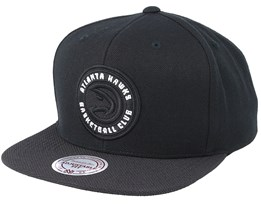 Atlanta Hawks Full Dollar Black Snapback - Mitchell & Ness