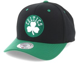 Boston Celtics Team Logo 2-Tone 110 Black Adjustable - Mitchell & Ness