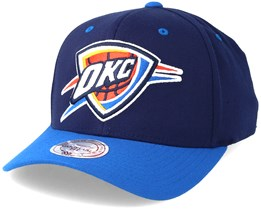 Oklahoma City Thunder Team Logo 2-Tone 110 Navy Adjustable - Mitchell & Ness