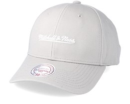 Team Logo Low Profile Silk Grey Adjustable - Mitchell & Ness