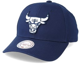 Chicago Bulls Team Logo Low Profile Navy Adjustable - Mitchell & Ness