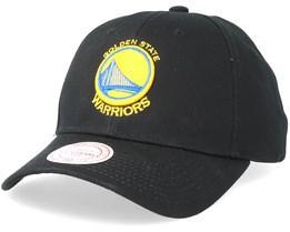 Golden State Warriors Team Logo Low Pro Black Adjustable - Mitchell & Ness