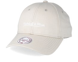 Team Logo Low Profile Oyster Grey Adjustable - Mitchell & Ness