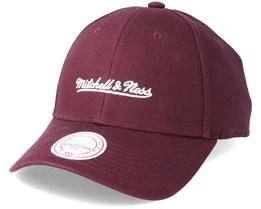 Team Logo Low Profile Wine Adjustable - Mitchell & Ness