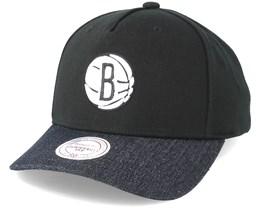 Brooklyn Nets Denim Visor Black Adjustable - Mitchell & Ness