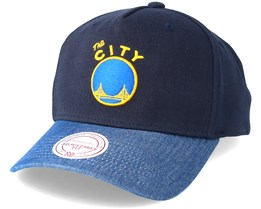 Golden State Warriors Denim Visor Navy Adjustable - Mitchell & Ness