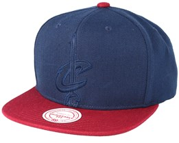 Cleveland Cavaliers Cropped Satin Navy Snapback - Mitchell & Ness